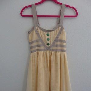 Matilda Jane light Yellow checkered Dress dress